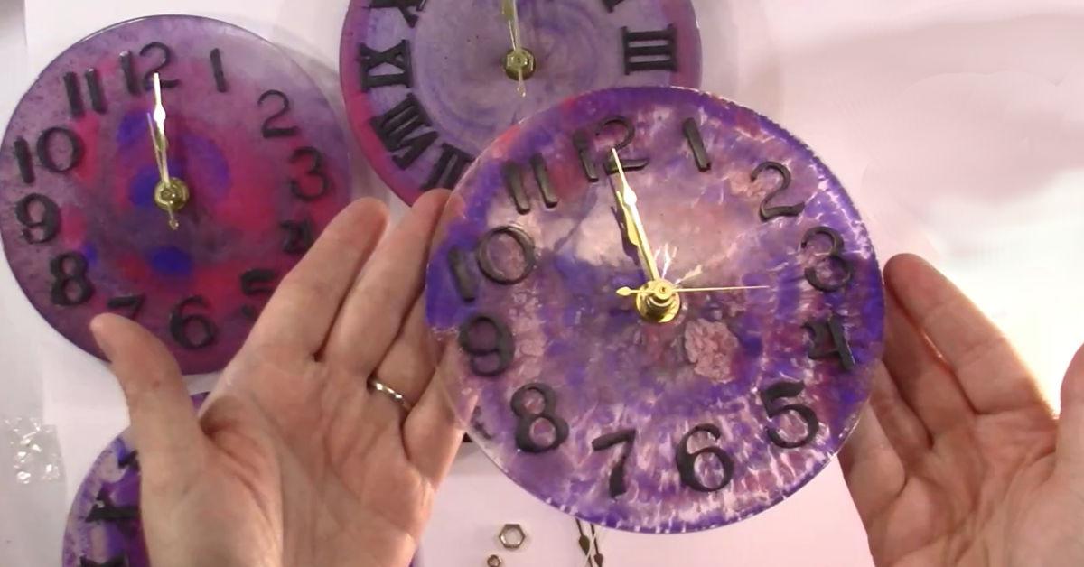 Resin Clock Desert Hippie Arts 1