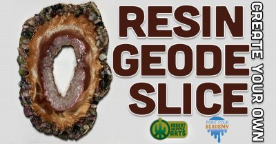 Resin Geode Slice Create Your Own
